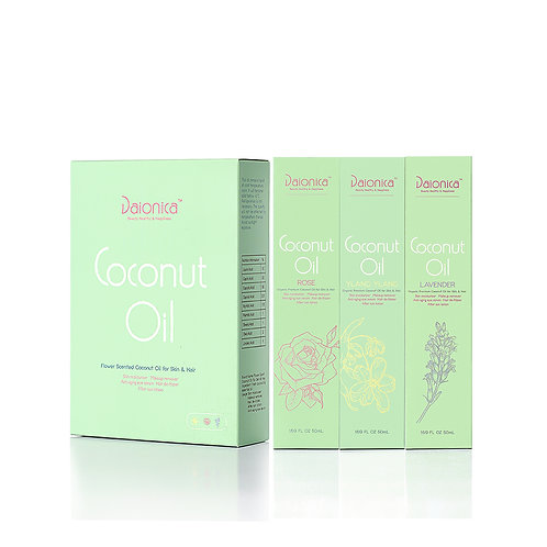 Flower Scented Coconut Quintessence Oil_ 3 bottles's pack