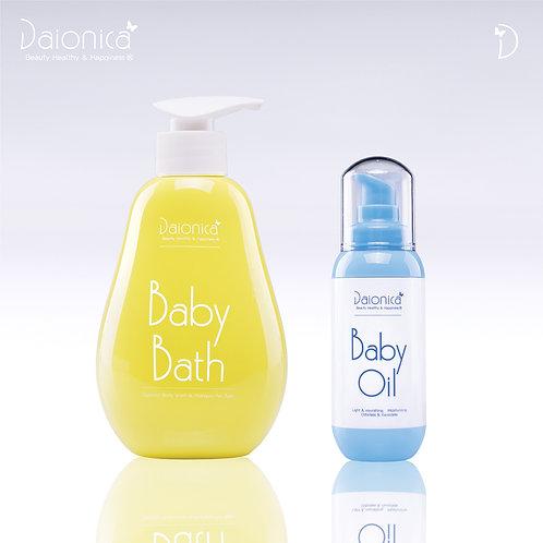 Daionica® 【Baby Bath】 +【 Baby Oil】