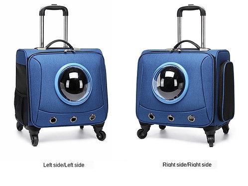 Intimate Pet  Universal Wheel Portable Pet Suitcase Cat Pet Trolley