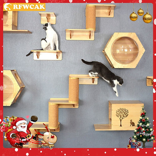 Wall Mounted Cat Climbing Frame
