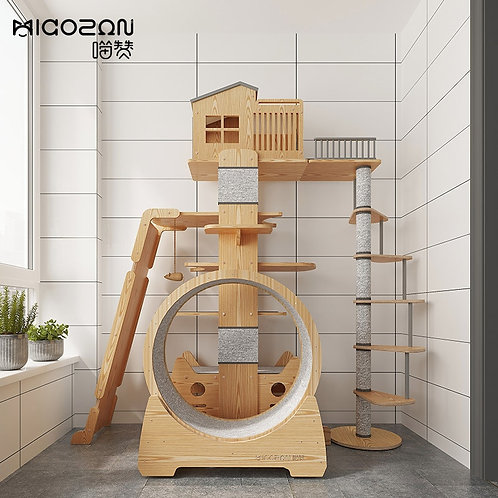 Large Cat Climbing Frame Solid Wood