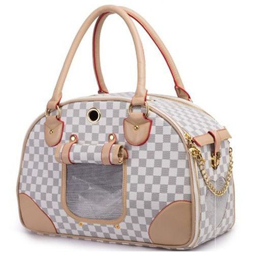 PU Leather  Carriers Fashion Pet Outdoor Carrier