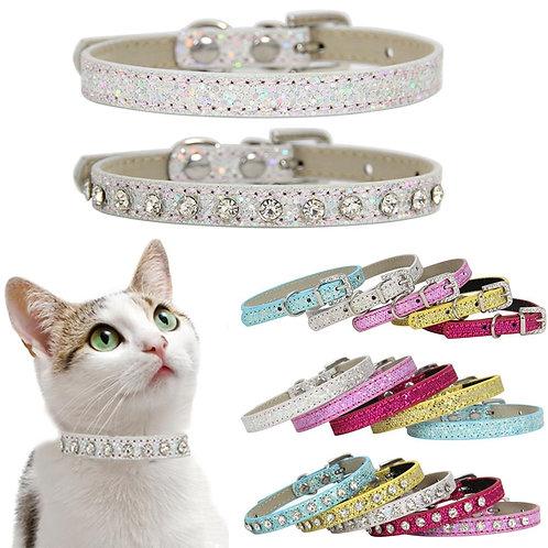 SUPREPET Shining Diamond Rhinestone Cat Collar