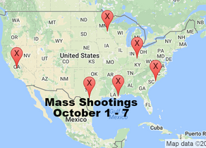 October 1 - 7 | Timelines of Gun Violence