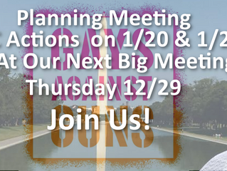 Next Big Meeting: Plan for DC Actions 1/20 - 21 | Join Us!