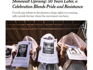 GAG at Stonewall 50 Rally, NYTimes  Takes Note