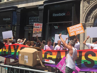 """GAG and Friends Shut Down Two NYC Reebok Locations Demaning that Reebok and Crossfit """"Drop the"""