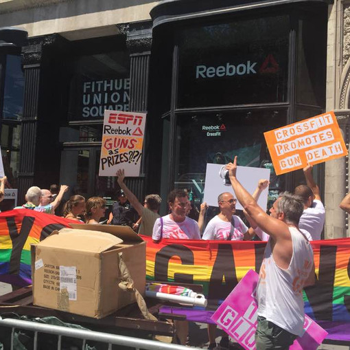 GAG and Friends Picket Reebok Store