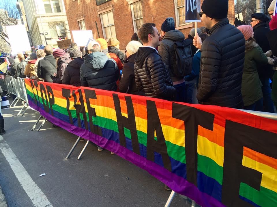 Stop the Hate Banner Back - Ken Kidd