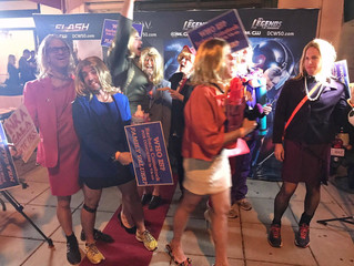 "DC-GAG Drag Makes Headlines, Hemlines With ""I'm Barbara Comstock"" NRA Puppet"
