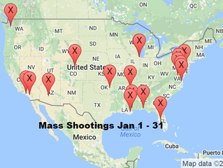 January 1 - 31, 2016 | Timelines of Gun Violence