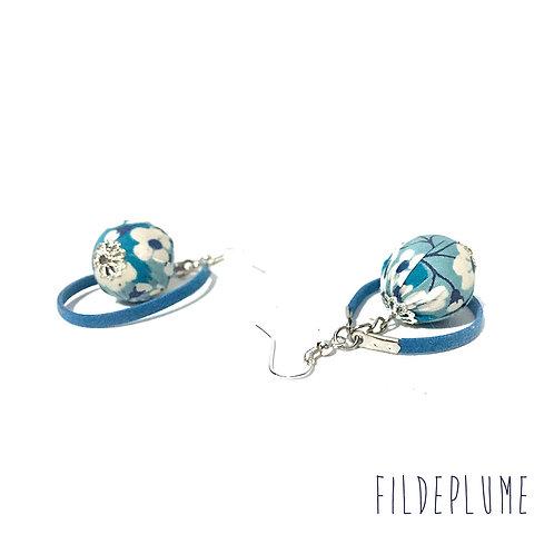 Boucles d'oreilles BoHo Mitsi turquoise