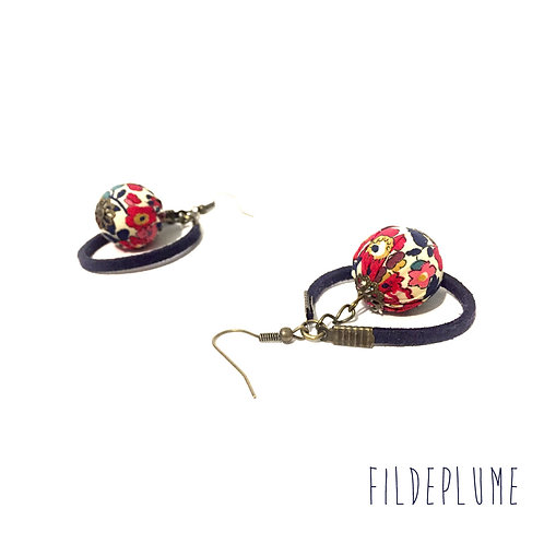 Boucles d'oreilles BoHo Betsy ann rouge