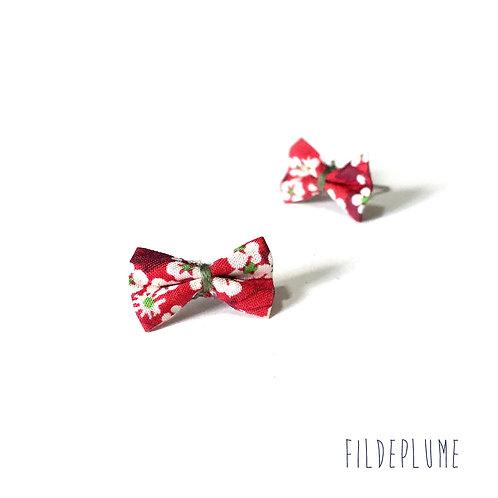 Boucles d'oreilles Bo-Bow mitsi valeria rubis