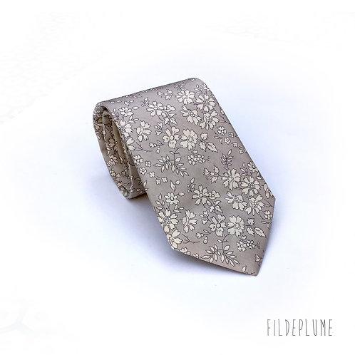 Cravate  classique Liberty capel gris