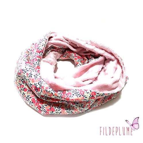 Snood Liberty Pois de senteur/Minky