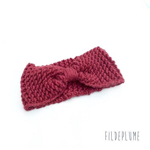 Bandeau tricot femme