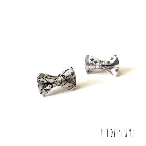 Boucles d'oreilles Bo-Bow adelajda acier