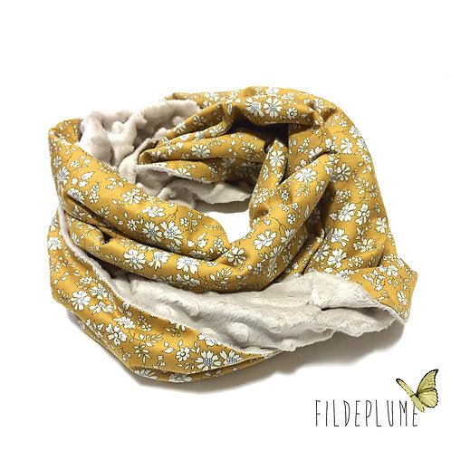 Snood Liberty Capel moutarde/Minky