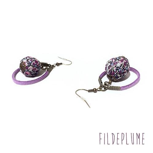 Boucles d'oreilles BoHo Pepper violet