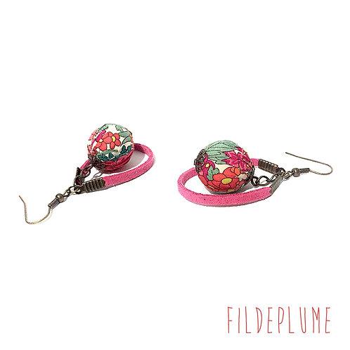 Boucles d'oreilles BoHo Margaret et Annie Pink
