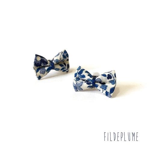 Boucles d'oreilles Bo-Bow katie millie bleu