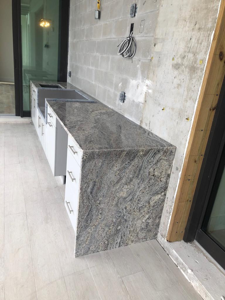 Granite Countertop wioth Waterfall