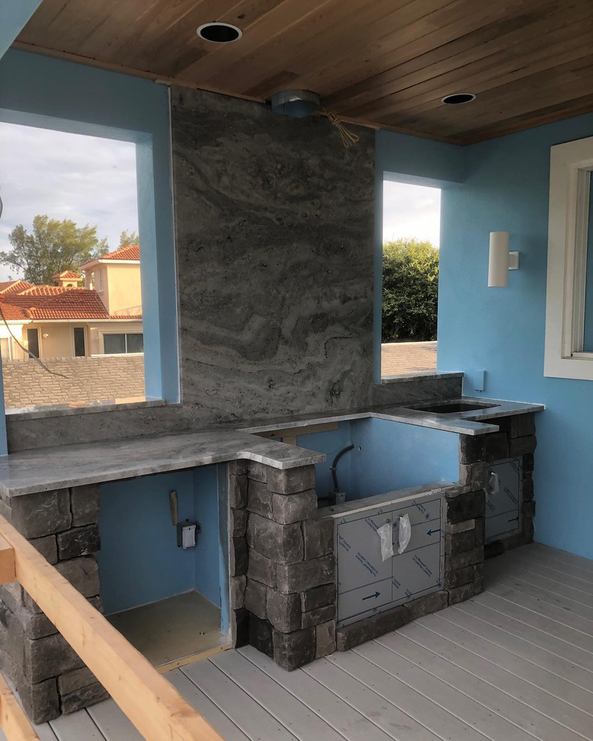 Ocean Fantasy Outdoor Kitchen
