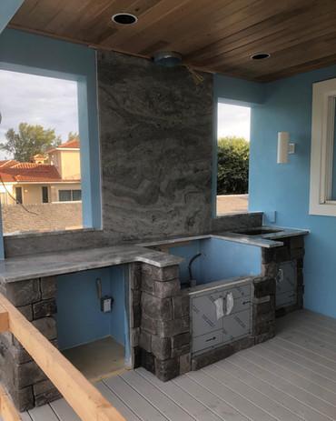 Ocean Fantasy Outdoor Kitchen