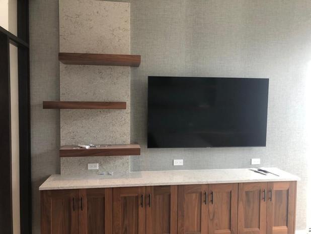Tv Area Countertop Qaurtz