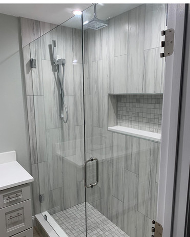 WATERFALL TILE SHOWER