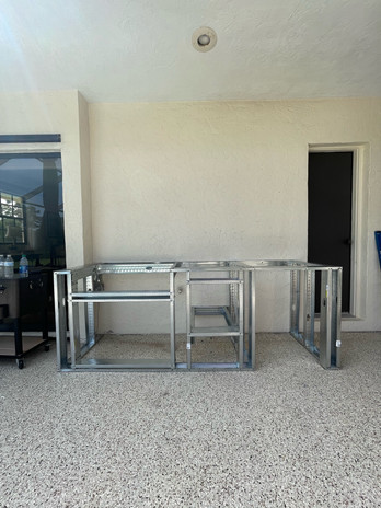 Aluminum Framing Outdoor Kitchen Sarasota