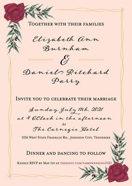 Elizabeth and Danny Wedding Invitation