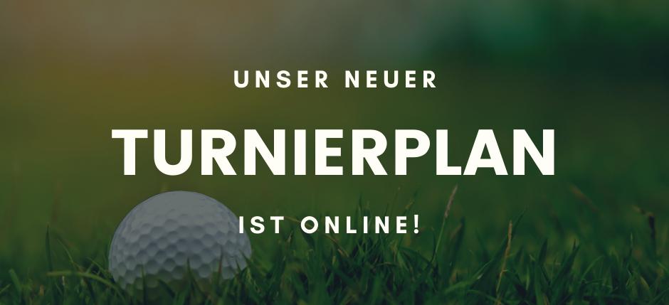 Der neue Turnierplan ist online!