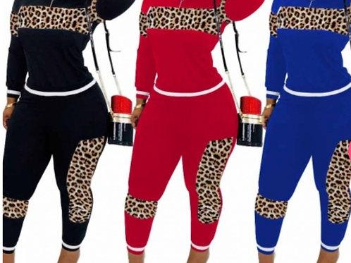 Leopard Print Sweatsuit