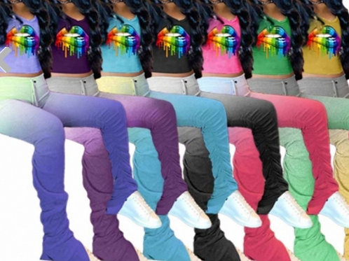 Pleated Pants 2-Piece Set