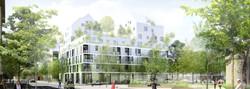 Atelier VM - Naud & Poux - Concours - Logements - Colombes - Image d'Architecture 3D
