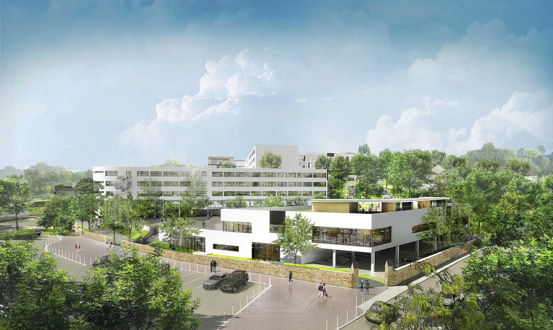 INTERSENS - LEHOUX PHILY & SAMAHA Architectes  - Groupe scolaire - St GERMAIN - Image d'Architecture