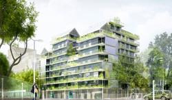 Atelier VM - Naud & Poux - Logements - PC - Paris - image d'Architecture 3D