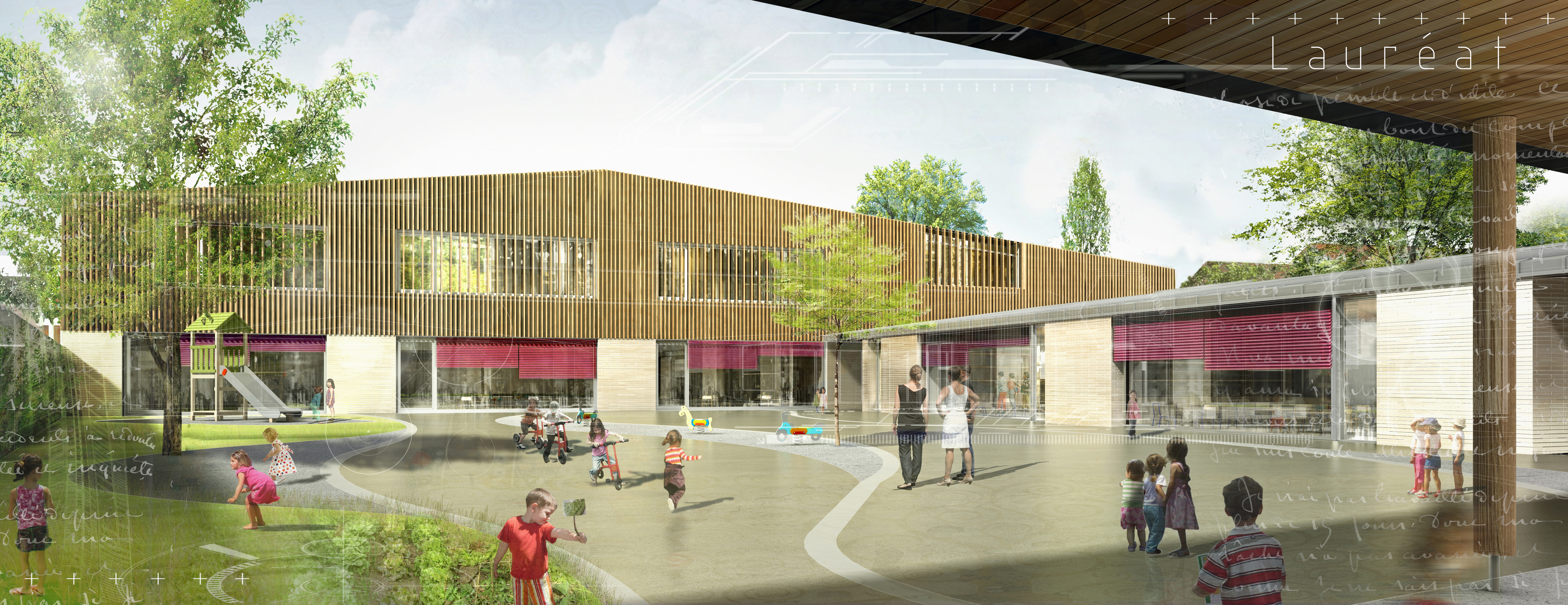 INTERSENS - MARGERIE & PASSQUET - Ecole Maternelle - Concours - Chilly Mazarin - image d'Architectur