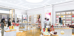 INTERSENS - L'Agence Versions - Boutique Roger & Gallet - Chine - Image d'Architecture 3D light 3