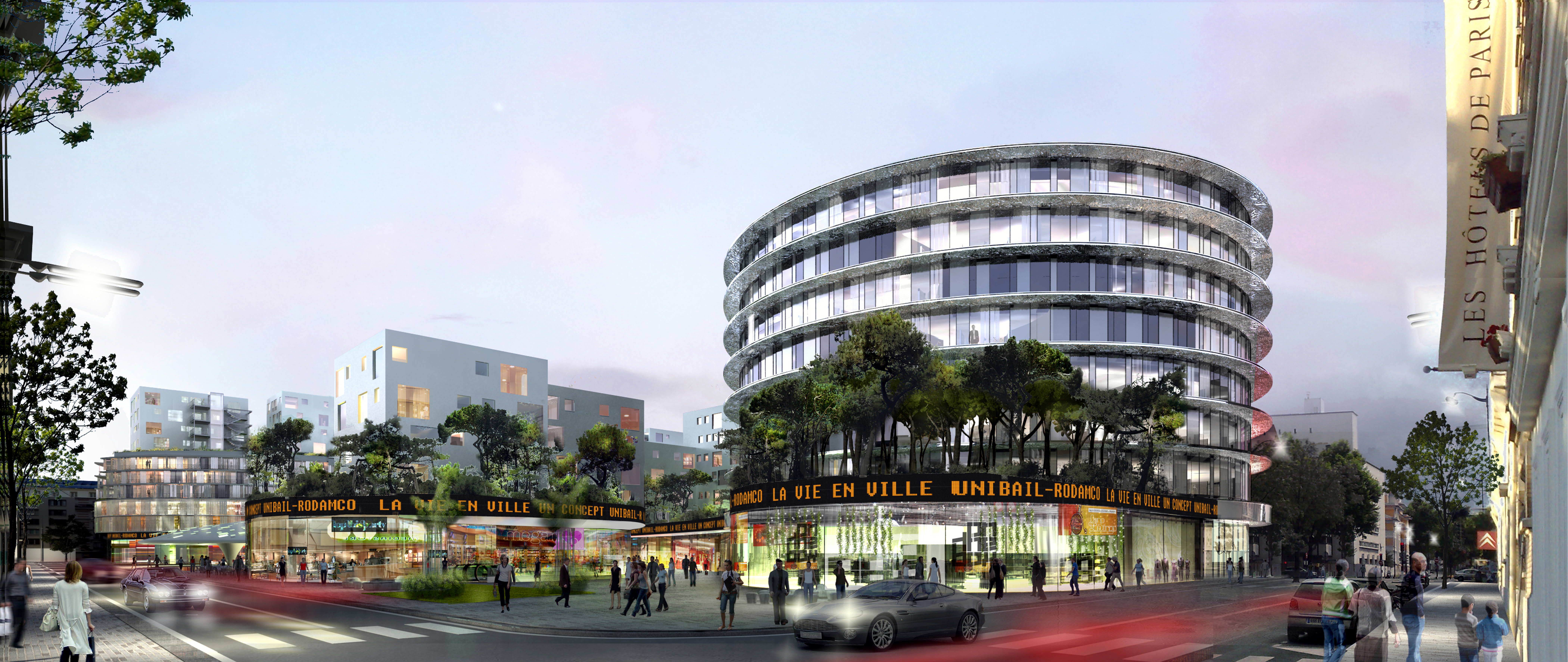 INTERSENS - PCA Architecture - Unibail - Rodamco - Etude - La vie en ville.