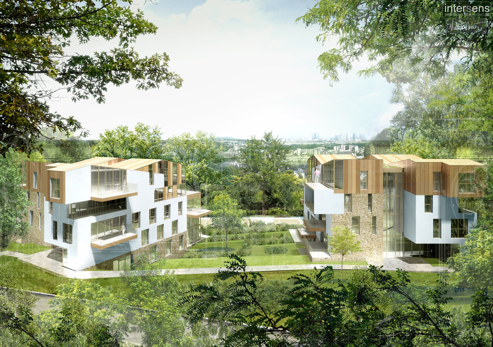 INTERSENS - Beguin & Machinni Architectes - Logements - PC - Meudon