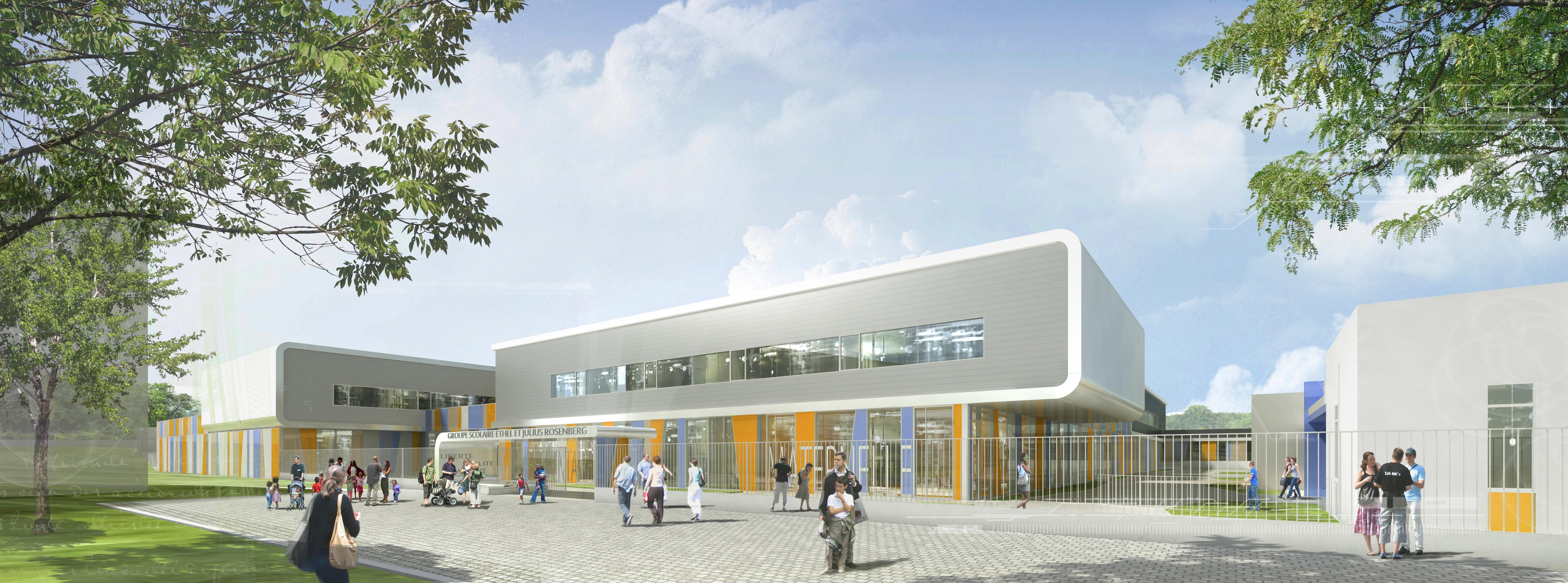 INTERSENS - LEHOUX PHILY & SAMAHA Architectes - Ecole primaire - Lacourneuve