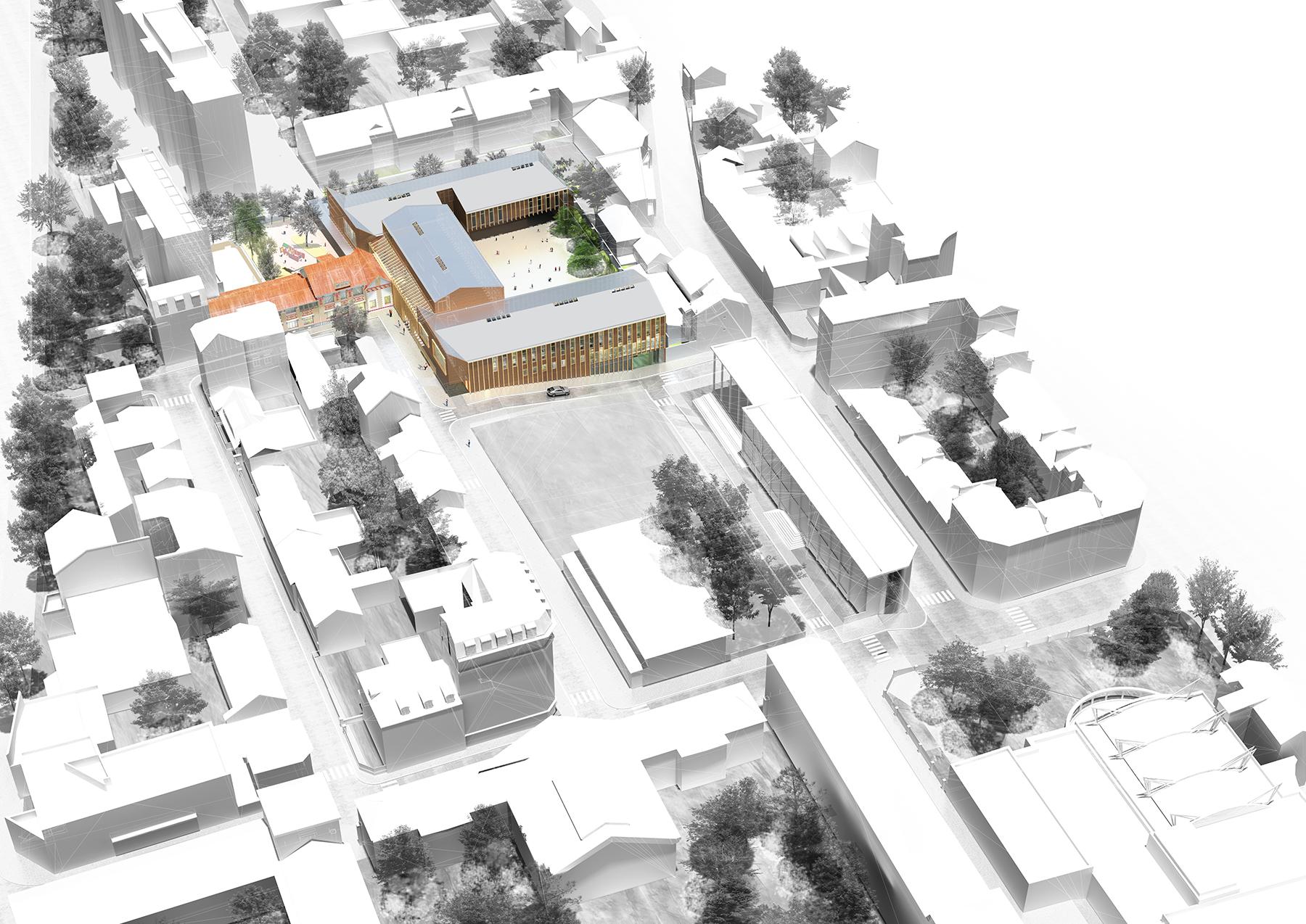 INTERSENS - Fabienne BULLE Architecte - Groupe scolaire - Saint ouen