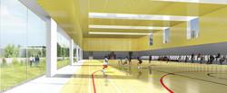 INTERSENS - LEHOUX PHILY & SAMAHA Architectes - Gymnase - Courbevoie - Image d'Architecture 3D (3)