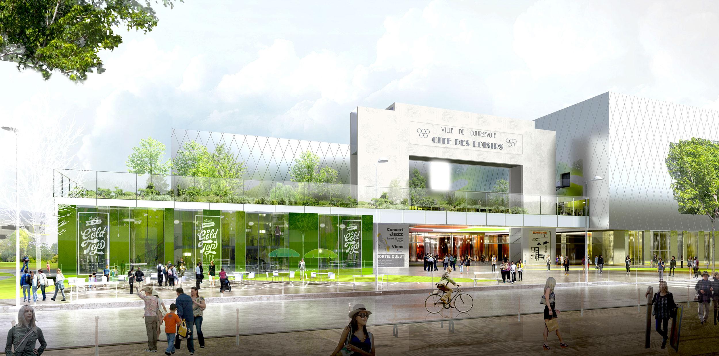 INTERSENS - Lehoux Phily & Samaha Architectes - Concours - Cité des loisirs - Courbevoie