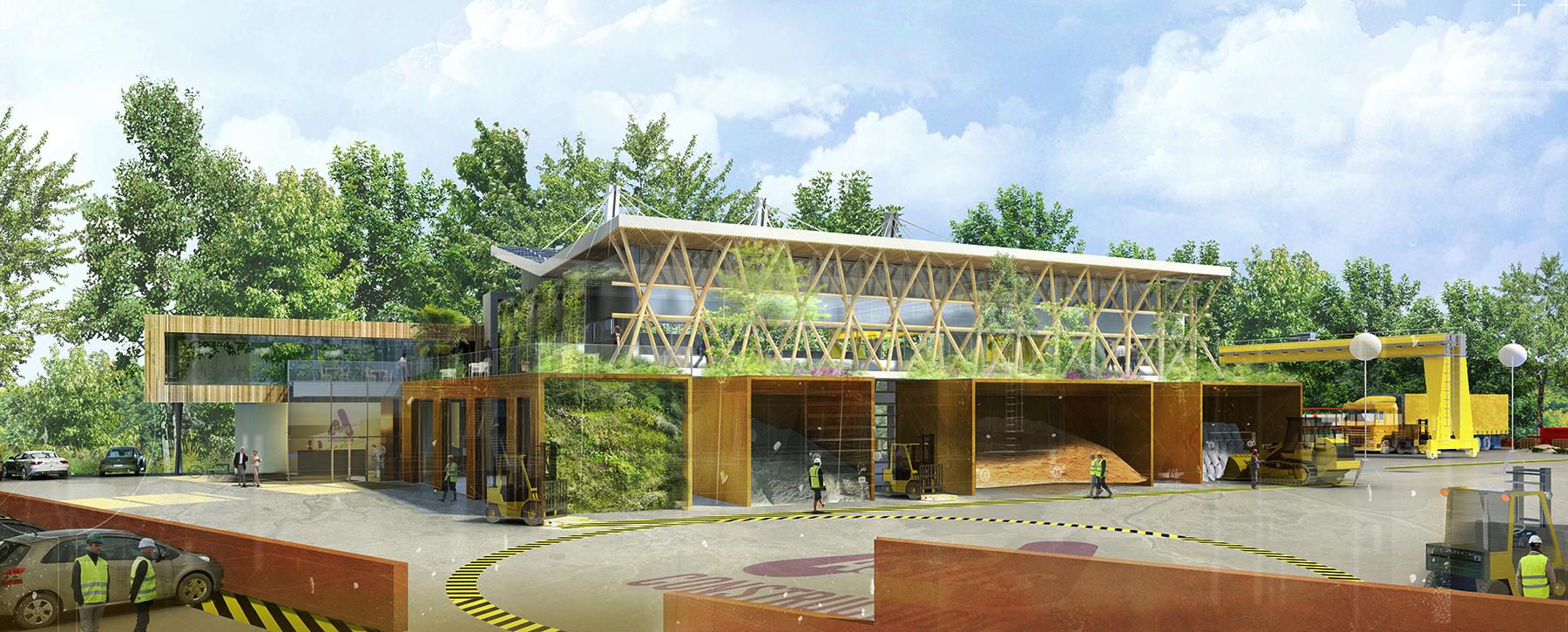 INTERSENS - CR&ON Architectes - Ateliers - Villefontaine - Image d'Architecture 3D