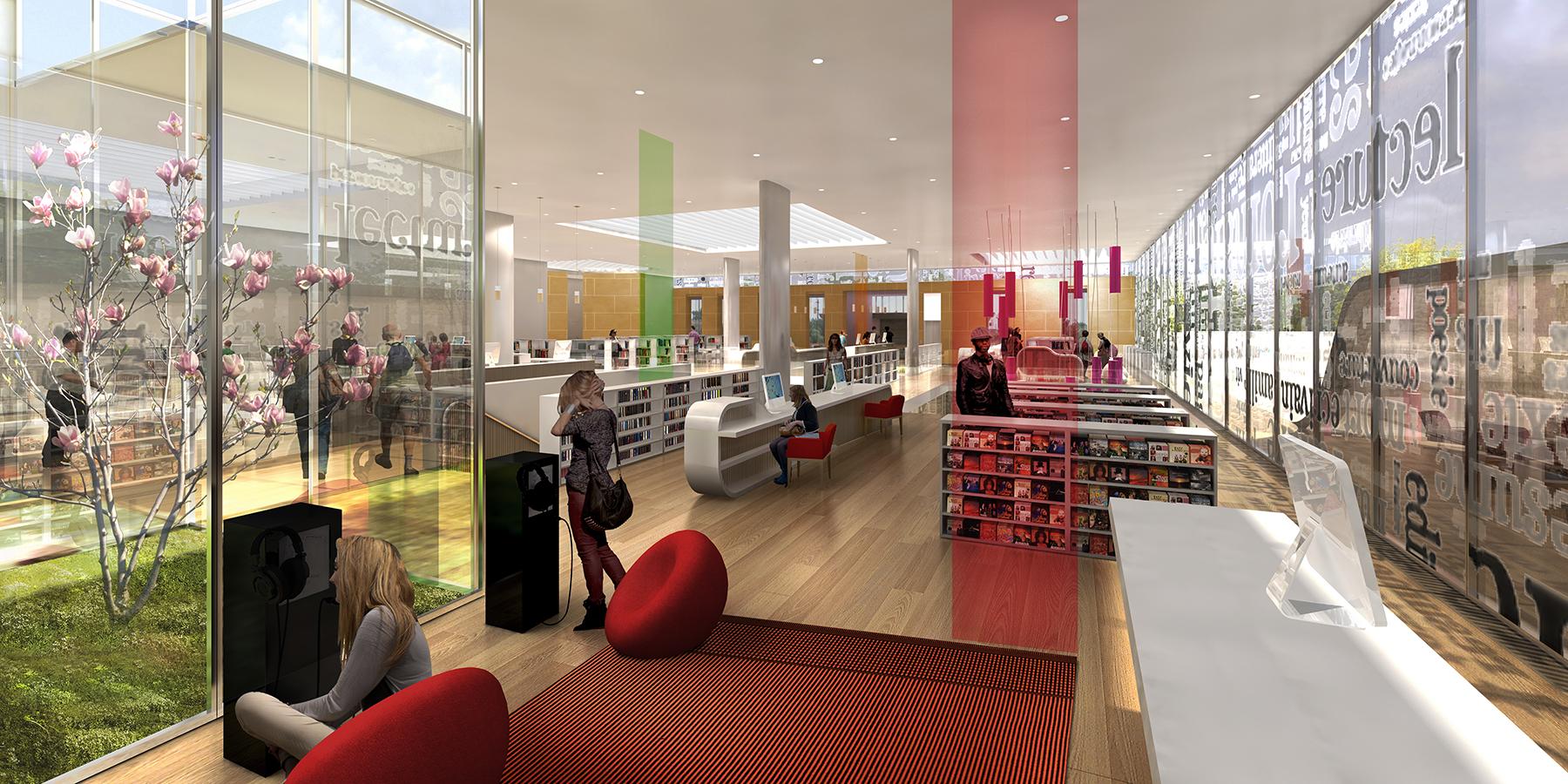 INTERSENS - Lehoux Phily & Samaha Architectes - Médiathèque - Stain