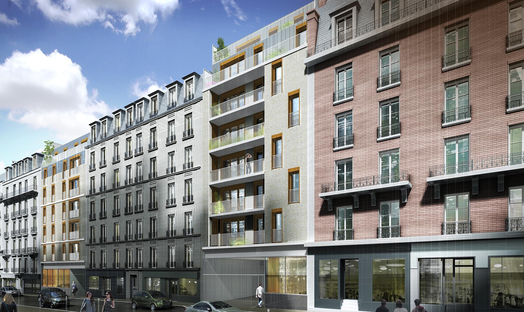 INTERSENS - BEGUIN & MACCHINI Achitectes - Logements rue Dutot - Paris